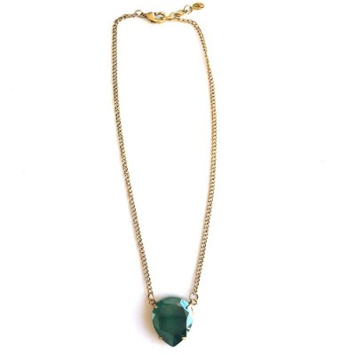 Colar Armazem RR Bijoux cristal swarovski gota verde