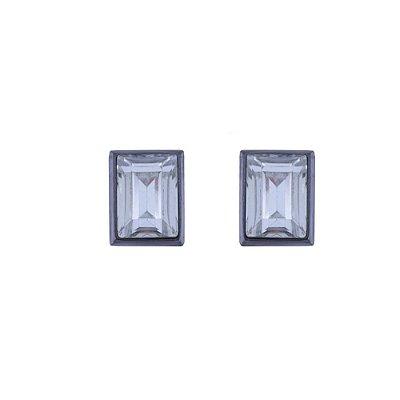 Brinco Armazem RR Bijoux quadrado cristal