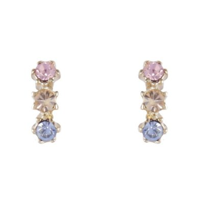 Brinco Armazem RR Bijoux pequeno azul e rosa