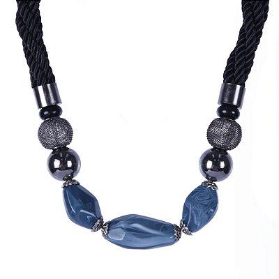 Colar Armazem RR Bijoux pedra azul