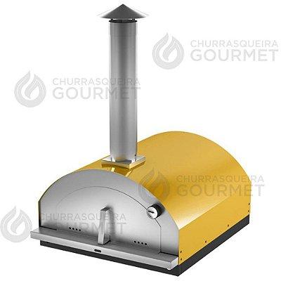 Forno de Pizza a Lenha Amarelo, modelo Gourmet
