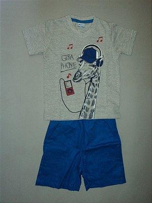 Conjunto Camiseta e Bermuda Azul Alenice