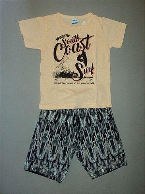 Conjunto Camiseta e Bermuda Grey Alenice