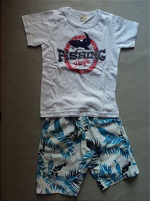 Conjunto Camiseta e Bermuda Shark Alenice