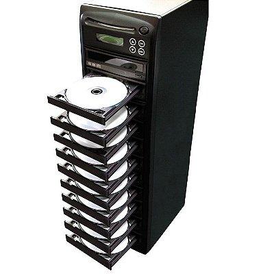 Duplicadora de DVD e Cd com 11 Gravadores Asus- Grava Midias Dual Layer até 8.5GB