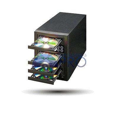 Duplicadora de CD e DVD com 04 Gravadores Pioneer