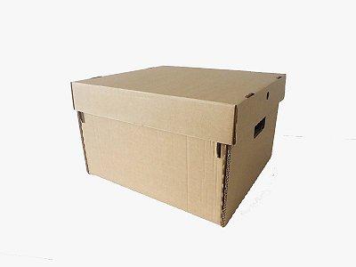 Caixa organizadora para documentos e mudança (PACOTE COM 25 UNIDADES)