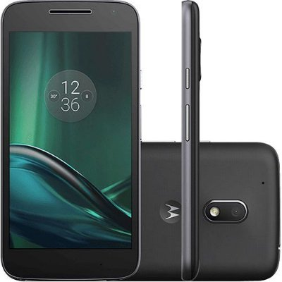 Smartphone Moto G 4 Play Dual Chip Android 6.0 Tela 5'' 16GB Câmera 8MP – Preto