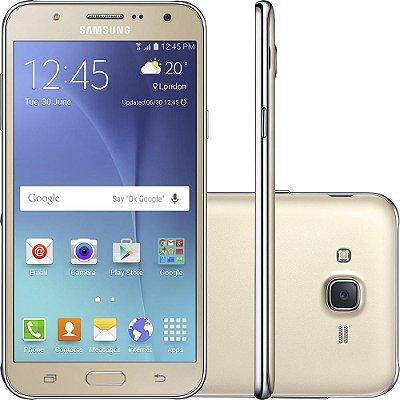 """Smartphone Samsung Galaxy J7 Duos Dual Chip Android 5.1 Tela 5.5"""" 16GB 4G Câmera 13MP – Dourado"""