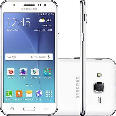 "Smartphone Samsung Galaxy J5 Duos Dual Chip Android 5.1 Tela 5"" 16GB 4G Wi-Fi Câmera 13MP – Branco"