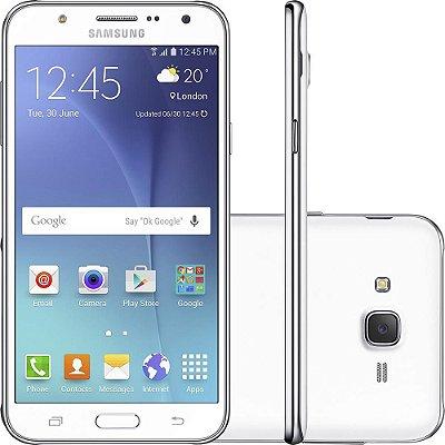 "Smartphone Samsung Galaxy J7 Duos Dual Chip Android 5.1 Tela 5.5"" 16GB 4G Câmera 13MP – Branco"