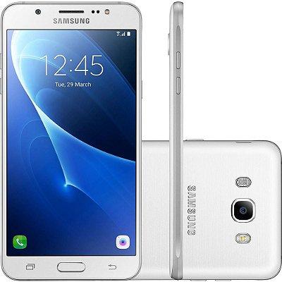 "Smartphone Samsung Galaxy J7 Metal Dual Chip Android 6.0 Tela 5.5"" 16GB 4G Câmera 13MP – Branco"