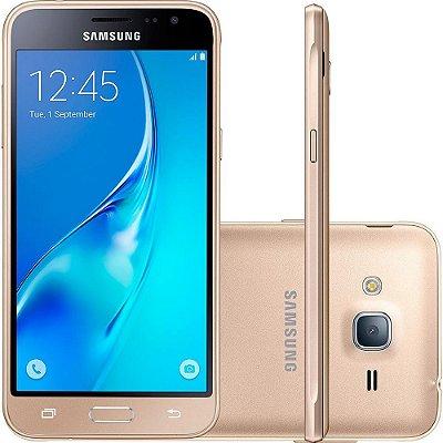 Smartphone Samsung Galaxy J3 Dual Chip Android 5.1 Tela 5'' 8GB 4G Wi-Fi Câmera 8MP – Dourado