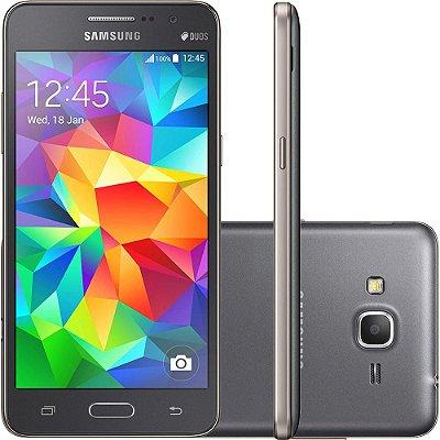"Smartphone Samsung Galaxy Gran Prime Duos Dual Chip Android Tela 5"" Memória Interna 8GB 3G Câmera 8MP - Cinza"