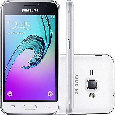 "Smartphone Samsung Galaxy J1 2016 Dual Chip Android 5.1 Tela 4,5"" 8GB 3G Wi-Fi Câmera 5MP - Branco"