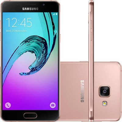 "Smartphone Samsung Galaxy A5 2016 Dual Chip Android 5.1 Tela 5.2"" 16GB 4G Câmera 13MP - Rosé"