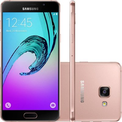 "Smartphone Samsung Galaxy A7 2016 Dual Chip Android 5.1 Tela 5.5"" 16GB 4G Câmera 13MP - Rosé"
