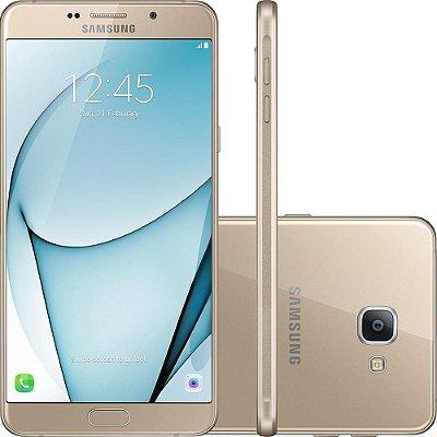 """Smartphone Samsung Galaxy A9 Dual Chip Android 6.0 Tela 6"""" Octa-Core 1.8 Ghz 32GB 4G Câmera 16MP - Dourado"""