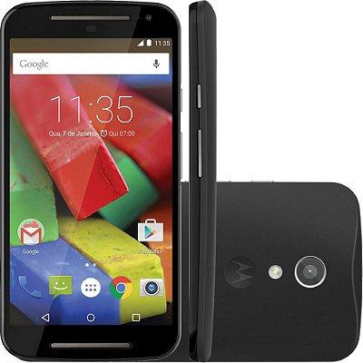 """Smartphone Motorola Moto G (2ª Geração) Dual Chip Android 5.0 Tela 5"""" 16GB 4G Câmera 8MP - Preto"""