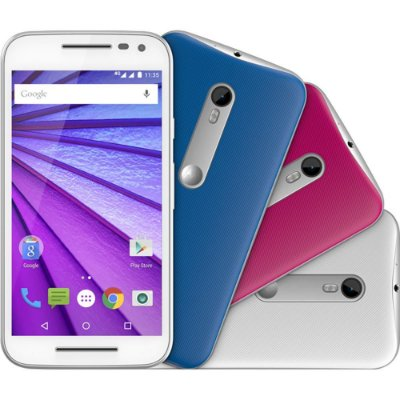 """Smartphone Motorola Moto G (3ª Geração) Colors HDTV Dual Chip Android 5.1 Tela 5"""" 16GB 4G Câmera 13MP - Branco + 2 Capas"""