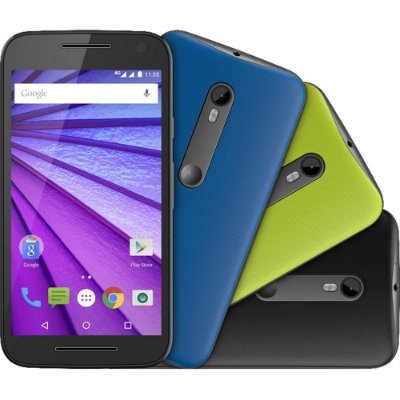 """Smartphone Motorola Moto G (3ª Geração) Colors HDTV Dual Chip Android 5.1 Tela 5"""" 16GB 4G Câmera 13MP - Preto + 2 Capas"""