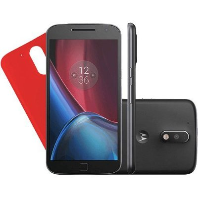Smartphone Moto G 4 Plus Dual Chip Android 6.0 Tela 5.5'' 32GB Câmera 16MP - Preto