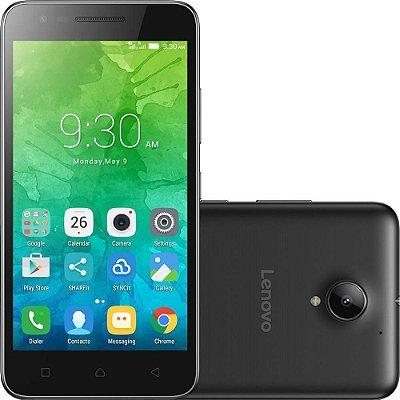 "Smartphone Lenovo Vibe C2 Dual Chip Android 6.0 Tela 5"" 16GB 4G Câmera 8MP - Preto"