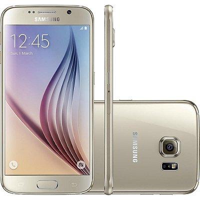 """Smartphone Samsung Galaxy S6 32GB 4G Android 5.0 Tela 5.1"""" Câmera 16MP - Dourado"""