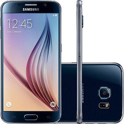 "Smartphone Samsung Galaxy S6 32GB 4G Android 5.0 Tela 5.1"" Câmera 16MP - Preto"
