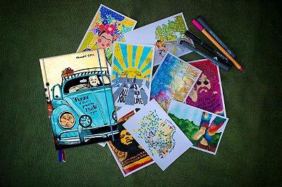 Agenda Mujica Livro + Kit Postal