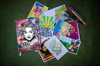 Agenda Madonna Livro + Kit Postal