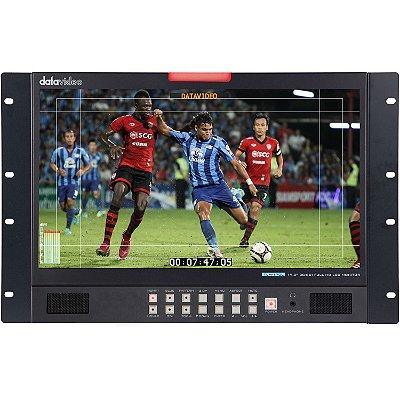 "Monitor Datavideo TLM-170LR de 17,3 ""Full HD Rackmount com 3G-SDI e HDMI"
