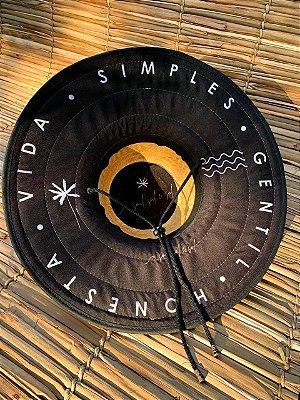 Chapéu de Palha - Preto Vida Simples