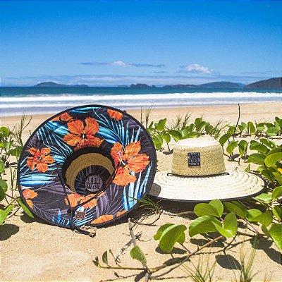 Chapéu de Palha - Hibisco Laranja