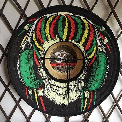 Chapéu de Palha - Rasta Skull