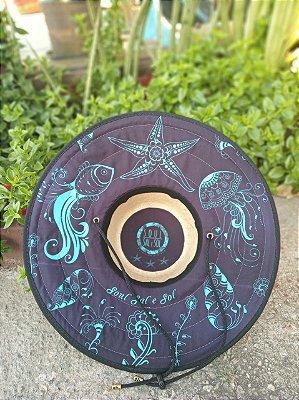 Chapéu de Palha - Elementos Marinhos Neon