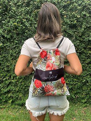 Bag/ Sacochila Floral Hibisco
