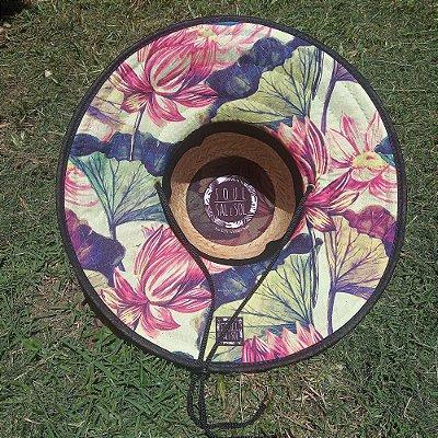 Chapéu de Palha - Floral Vintage