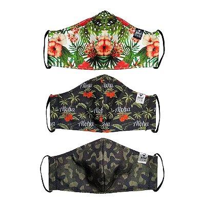 Kit Máscara de Proteção - 10 unidades - Escolha estampas após compra