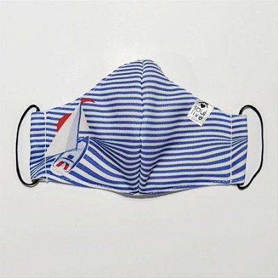 Máscara de Proteção Infantil - Barquinho Listrada