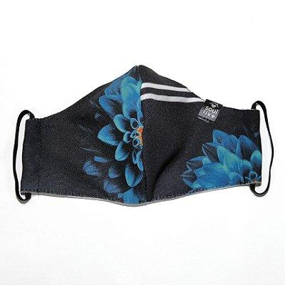Máscara de Proteção - Flor Azul