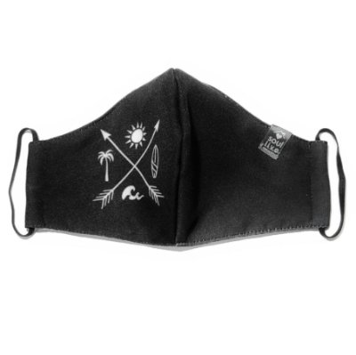 Máscara de Proteção - Preta Flechas Símbolos