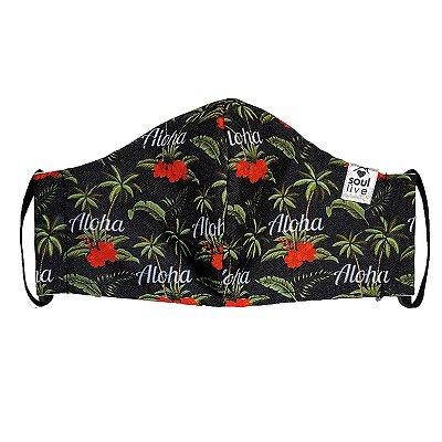 Máscara de Proteção - Aloha Hibiscos