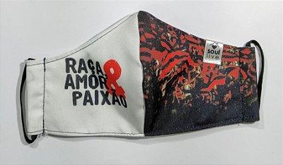 Máscara de Proteção - Flamengo Raça, Amor e Paixão