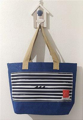 Bolsa Juta Azul - Listrada P/B