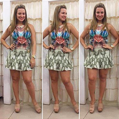 Macaquinho short-saia