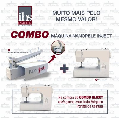 Máquina de Mega Hair - Combo Nanopele Inject - Pressure Hair