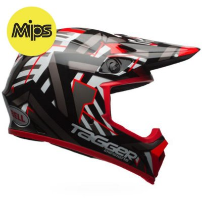 CAPACETE BELL MX-9 DOUBLE TROUBLE BLACK RED