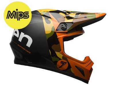 CAPACETE BELL MX-9 SEVEN SOLDIER ORANGE MIPS