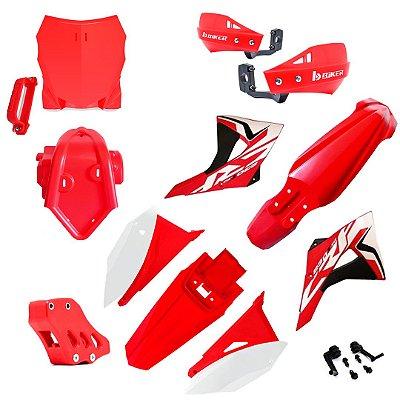 Kit Plasticos + Kit Proteção Biker Crf 230 2008/2019